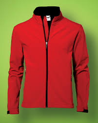 AMS Hockey Ladies Red Softshell Jacket